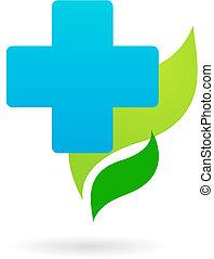 icono médico - cruz azul
