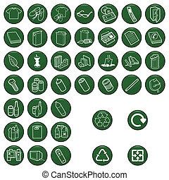 icono material reciclable