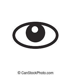 Icono ocular en fondo blanco, Vector.