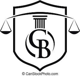 Icono Pillar para legal, abogado, la plantilla de vector de logo de la oficina de la ley