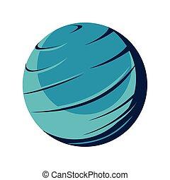 icono, planeta, venus, aislado, espacio