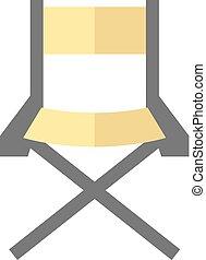 icono plano, silla de director de cine
