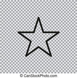 Icono plano Vector de estrella en el fondo transparente