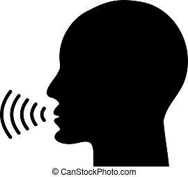icono que habla por voz