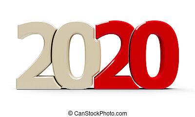 icono, rojo, compacto, 2020