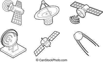 Icono satélite, estilo de esquema