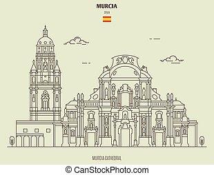 icono, señal, spain., catedral, murcia