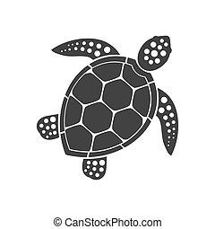 icono, tortuga marina