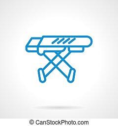 Icono vector azul de la tabla de planchar