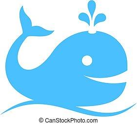 icono vector de ballena azul