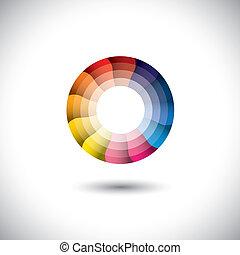 icono vector de brillante colorido moderno círculo