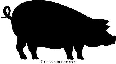 icono vector de cerdo