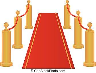 Icono vector de entrada de alfombra roja
