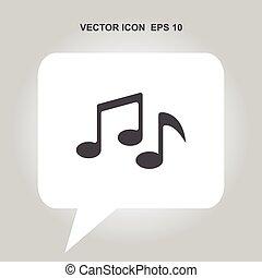 Icono vector de la música