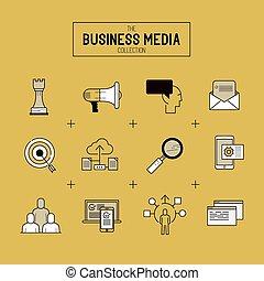 Icono vector de negocios fijado