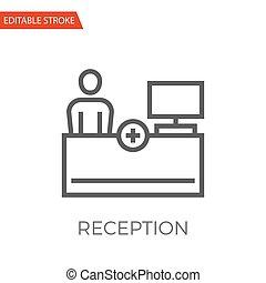 icono vector de recepción