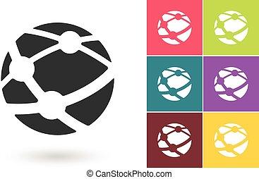 Icono vector de red o símbolo de la red social