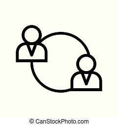 icono vector de reunión de negocios.