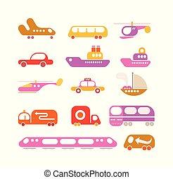 Icono vector de transporte fijado