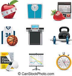 Icono Vector fitness