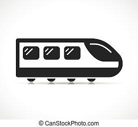 icono, vector, ilustración, tren