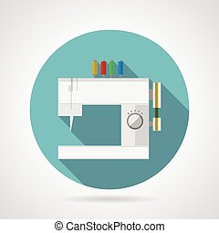 Icono vector plano para máquina de coser