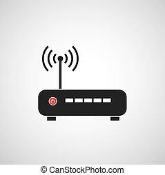 Icono vector Router