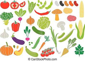 icono vegetal (colección de vectores)