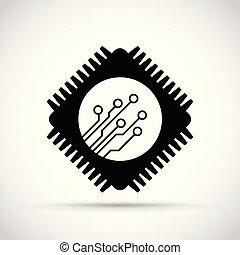 icono, viruta de computadora