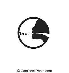 Icono Vocal con ilustración vector de imagen personal