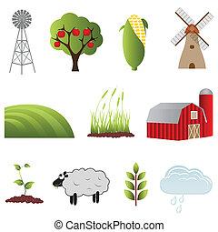 iconos agrícolas y agrícolas