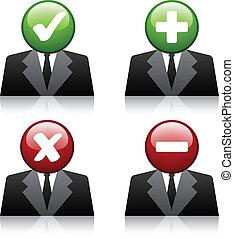 iconos, agregar, vector, usuario, profesional, borrar