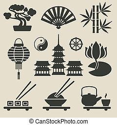 iconos asiáticos listos