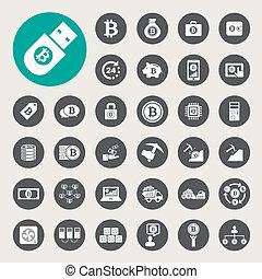 iconos Bitcoin listos