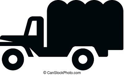 iconos BW - camión militar