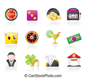 iconos, casino, juego
