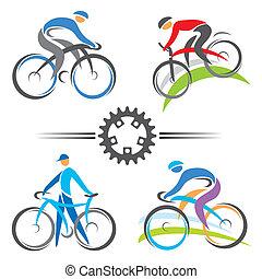 iconos ciclistas