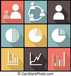 iconos comerciales en diseño plano
