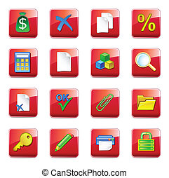 iconos contables de WWW