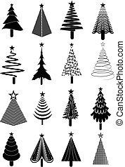iconos de árbol de Navidad