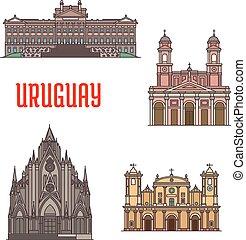 iconos de atracción turística Uruguay