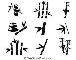 iconos de bambú negros