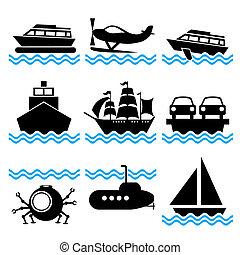 iconos de barcos