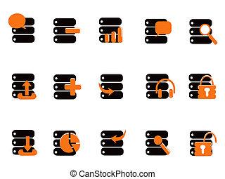 iconos de base de datos negros