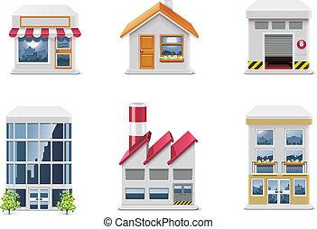 iconos de bienes raíces. P.1