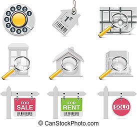 iconos de bienes raíces. P.3