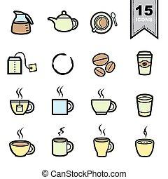 iconos de café listos