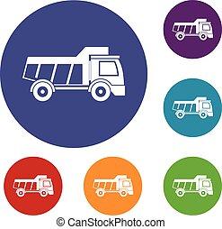 iconos de camión de juguete listos