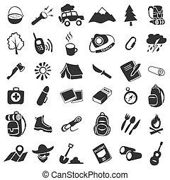 iconos de campamento