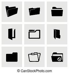 Iconos de carpeta Vector listos